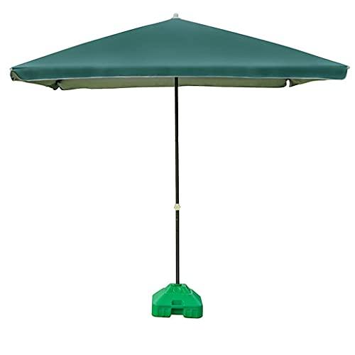 BBZZ Paraguas rectangular, 250 cm, tela de poliéster impermeable, para exteriores, altura ajustable, para jardín y patio, color rosa, A
