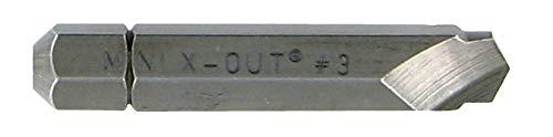 TIVOLY 11111120002 - Kit Extractor de tornillos N°2-3. Para extraer puntas dañadas Ø28 mm con su atornillador-destornillador