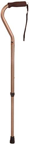 Carex Adjustable Offset Handle Cane, Bronze [A728-00] 1 ea (Pack of 2)