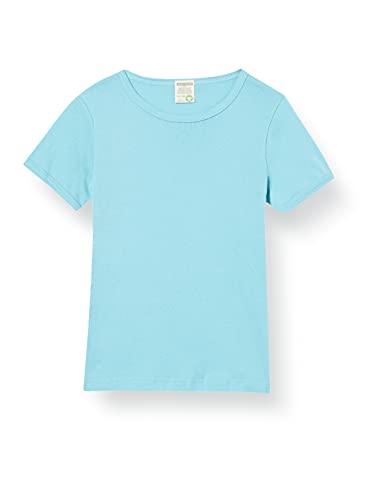loud + proud Unisex Kinder Uni, GOTS Zertifiziert T-Shirt, Lagoon, 122/128