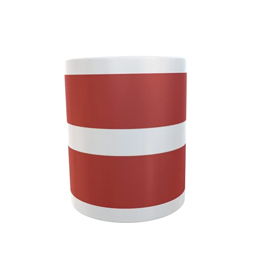 U24 Tasse Kaffeebecher Mug Cup Flagge Lettland