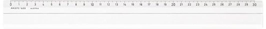 Aristo AR1432 Ruler 30 cm Transparent w771216697
