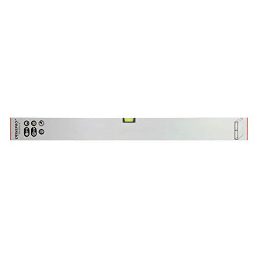 DEWEPRO® Estrich Richtlatte - Setzlatte - Abziehlatte - Putzlatte mit 1 Libelle - Länge: 150cm / 1,5m