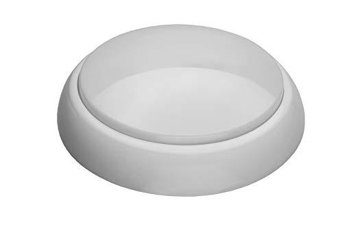 16W 4000K 1600lm Round XL Ceiling/Wall LED Bulkhead Light Lamp IP44 IK10 PIR Motion Sensor