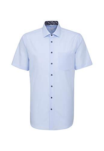 Hommes Seidensticker moderne à manches courtes à Boutons Chemise-Blanc