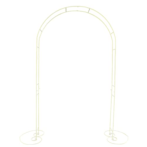 CNCEST Metal Garden Arbour Arch Wedding Archway Iron Decoration Climbing Frame Arbour Outdoor Garden Lawn Backyard Patio Free Standing Archway (Type 2)