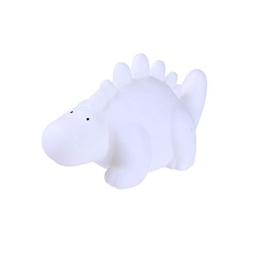 Mamum Poupée de dinosaure éclairée,Mini lampe dinosaure LED Cartoon Petite Veilleuse Enfant Décoration d'intérieur Nouveau jouet (Blanc)