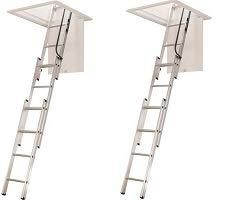 WERNER LADDER AA1510 AA1510B Ladder Aluminum Attic, 250 lb (2-(Pack))