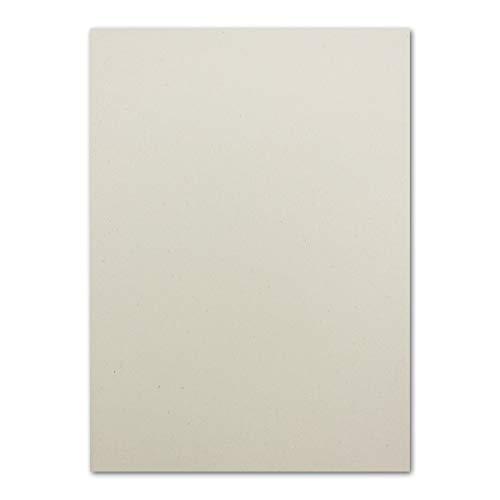 100 Naturpapier DIN A6 Ökopapier mit Lederanteil - Postkarten - 180 g/m² Creme 100% Recycle-kompostierbar FSC Zertifiziert UPCYCLING