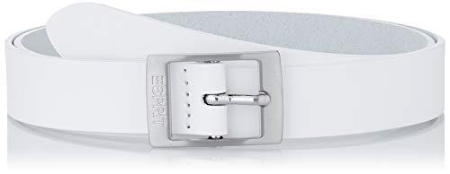 Esprit Accessoires Damen 990EA1S301 Gürtel, Weiß (White 100), 6631 (Herstellergröße: 85)