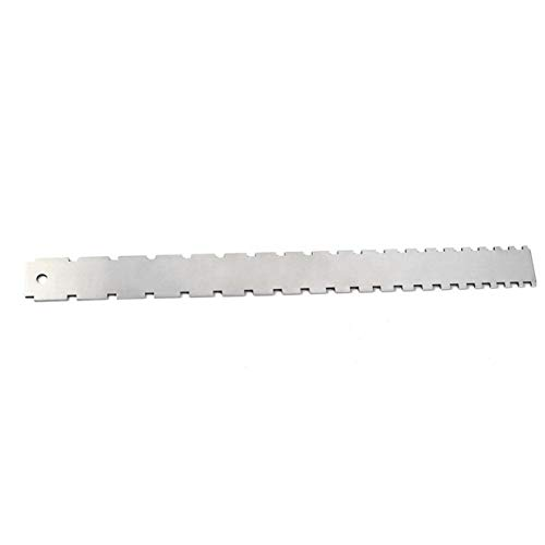 Sairis Stainless Steel Guitar Neck Notched Straight Edge Luthiers Frets Measure Tool for Electric Guitars for Fretboard and Frets