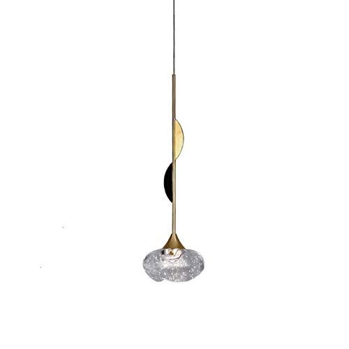 LULIJP Lámpara Colgante Diseñador de Lujo Sala de Estar de la lámpara Pendiente de la Tuerca de la Personalidad Creativa Villa Restaurante Bola de Cristal de Luces Pendientes