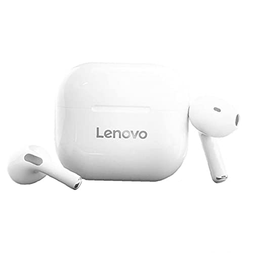 Wireless Earbuds TWS Earphone for Lenovo LP40 Long Standby Bluetooth Gaming Headset White