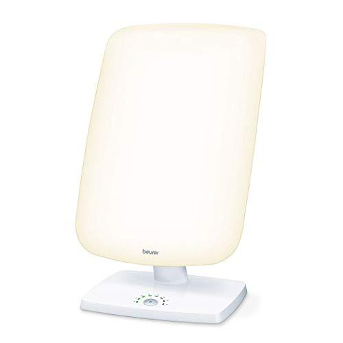 Beurer TL 90 Lampe de luminothérapie   10 000 lux   Simulation de la lumière du jour   Réglage d'inclinaison en continu   Affichage de la durée de traitement   CE médical