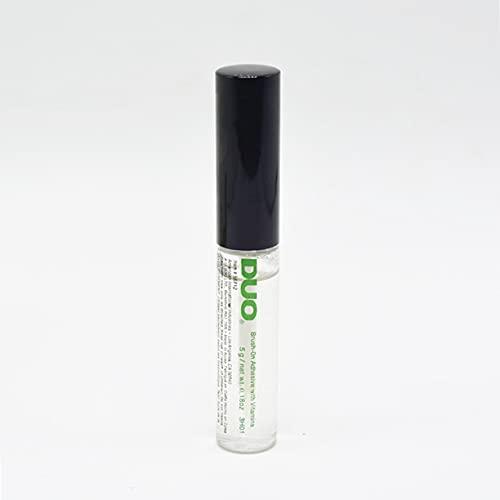 Monllack Colle adhésive pour Cils, beauté imperméable à l'eau Faux Cils Maquillage adhésif pour Cils Colle pour Cils Brosse sur Cils Colle adhésive pour Cils (Transparent)