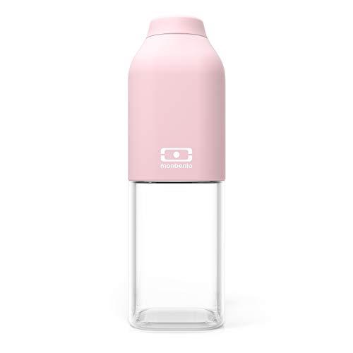 monbento - MB Positive M rosa Litchi Trinkflasche bpa frei - 0,5 L - Tritan Trinkflasche