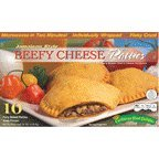 Jamaican Style Patties, Baked (Beefy Cheese), individually Wrapped Patties (10)