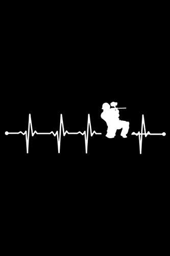 Heartbeat Paintball: A5 Liniertes Notizbuch auf 120 Seiten - Paintball Notizheft | Geschenkidee für Gotcha Spieler, Paintballspieler, Vereine und Mannschaften