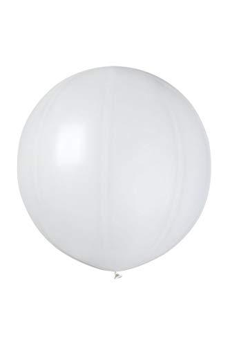 Ballon géant rond avec sachet cavalier blanc
