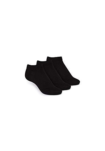THOKKTHOKK Socken Niedrig Schwarz 3er Pack Bio Fair, Größe:M 39-42