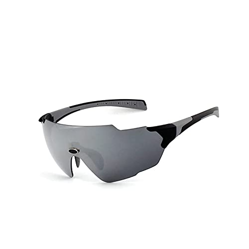 HGJINFANF Bicchieri da Ciclismo, Occhiali da Sole Sportivi for Uomo e Bicchieri da Ciclismo da Donna, Occhiali da Golf e da Baseball