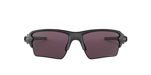 Oakley Herren Flak 2. Xl Sonnenbrille, Silber (Steel/Prizmdailypolarized), 59