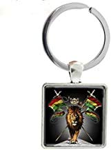 Schlüsselanhänger, Metall, quadratisch, für Herren, Kinder, Geschenk, Punk, J267