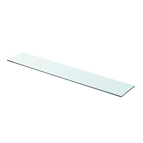 Festnight Ersatzteile Glasregal Glasboden | Wandregal aus GEH?rtetes Glas | Einlegeboden Badregal Klarglas | Transparent 90 cm x 15 cm
