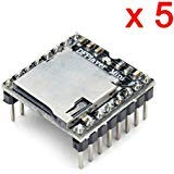 DAOKI 5 PCS U Disk Mini MP3 DFPlayer Player Module Audio Voice Board Shield for Arduino UNO