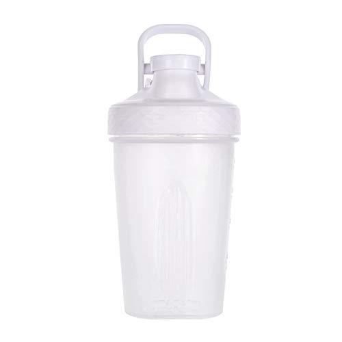 LSGMC Shaker Copa, Botellas De Plástico De Deportes Acuáticos, a Prueba De Fugas Portátil Multifuncional Blender Shake Copa, 500ml,Negro