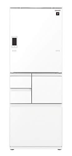 シャープ SHARP 冷蔵庫 プラズマクラスター(幅68.5cm) 551L ガラスドア/電動どっちもドア(両開き) メガフリーザー 5ドア ピュアホワイト SJ-WA55E-W