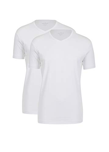 Daniel Hechter Herren T-Shirt V-doublep.slim 10189 474, Gr. XXX-Large, Weiß (white 1)