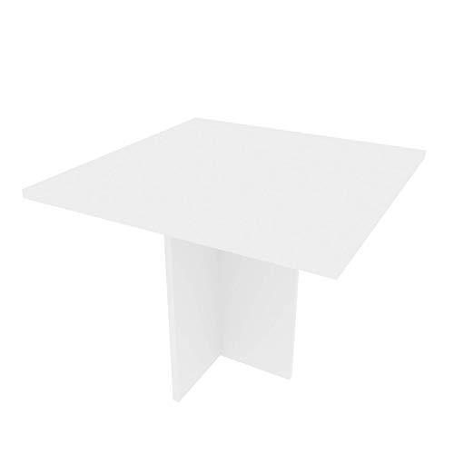 mutatio Verbindungsplatte mit Stützfuß - Eine Möglichkeit um Seine Arbeitsfläche zu erweitern - 90 Grad Ecke - Verkettungsplatte - Eck Tisch - Eckplatte - Ecktisch Weiß