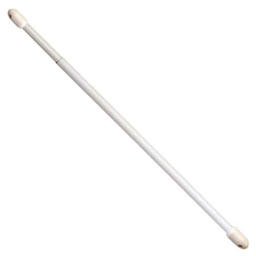 Riel Chyc 53239, Bastone per tende, allungabile, ovale, Bianco, 2 pz., 40-60cm