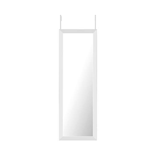 "Mirrorize HFM1000 Door/Wall/Floor Mirror, 14""X42"", White"