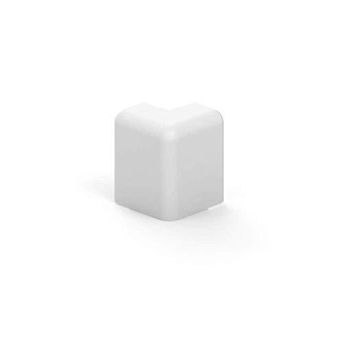 Habengut Außenecke für Sockelleiste 50 mm aus PVC, Farbe: Weiß | Inhalt: 1 Stück - für Mauervorsprünge in Räumen
