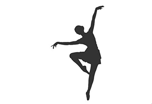Hattyer Auto Waterproof Accessories Beautiful Ballet Dancer is Dancing Vinyl Car Sticker and Graphics for Car Body Window Door Design Detachable Art Mural