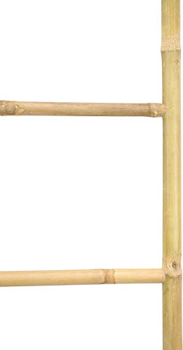 Handtuchleiter aus Bambus, 115 cm hoch, 4 Sprossen, Kleiderständer 2