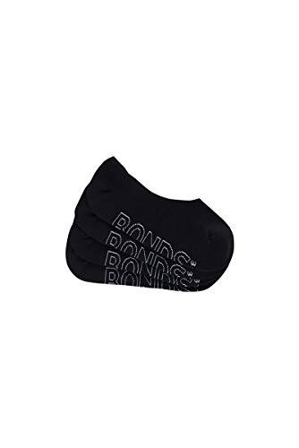Bonds Women's Logo Light Sneaker Socks (4 Pack), Black, 3-8, Medium