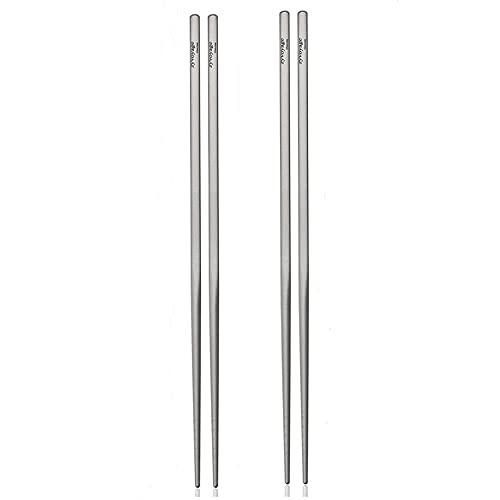 ZYVoyage - Palillos de titanio ultraligeros para comer (2 pa
