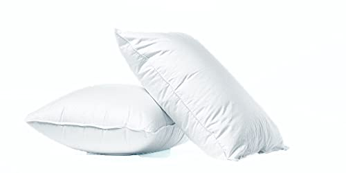 Linen Empire Ltd Standard Luxury Pillows 2-Pack - 50x75 cm - Standard Size Hotel Quality Soft Pillow for Sleeping - Bounce Back Support Bed Pillows - Hypoallergenic Soft Hollowfibre