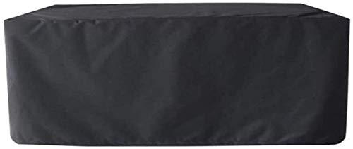 dfff Funda para Muebles de jardín Funda Protectora de Asiento Impermeable a Prueba de Polvo Tela Oxford Negra Pesada Tamaño Personalizable (Color: Negro, Tamaño: 200x160x70cm)
