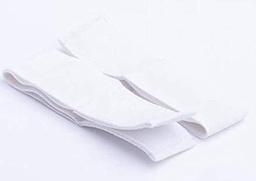 Fix My Gear Goalie Pad Knee Elastics Single Strand Loop/Loop Velcro (White, 10)