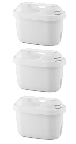SILBERTHAL Wasserfilter Kartuschen - Reduziert Kalk, Chlor und Verunreinigungen - Filterkartuschen kompatibel mit Brita Maxtra Filterkannen - 3er Pack
