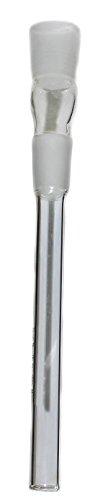 Budawi Adapter Chillum Schliff:18.8mm L.13 cm für Glas Kopf, Wasserpfeifen-zubehör, Zylinder-Chillum