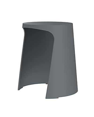Sellex Taburete de diseño y apilable Handy, Gris Antracita - Ral 7016, Altura: 452 mm; Anchura: 402 mm; Profundidad: 402 mm