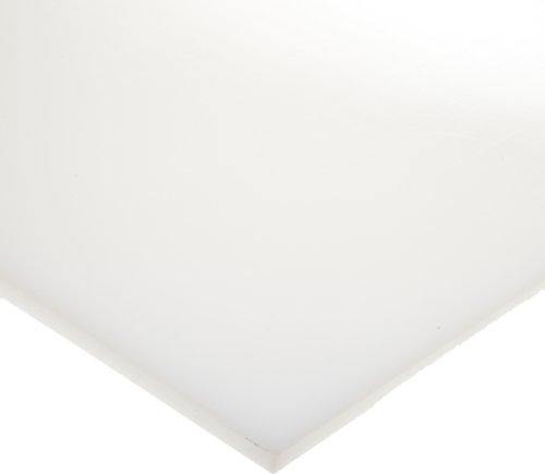 "HDPE (High Density Polyethylene) Sheet, Opaque White, Standard Tolerance, UL 94HB, 3/4"" Thickness, 24"" Width, 48"" Length"