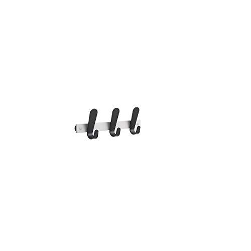 office akktiv Portemanteau mural - 3 patères pour manteaux, h x l x p 130 x 360 x 60 mm, lot de 2 - coloris patères noir - penderie penderies portemanteau mural portemanteaux portemanteaux muraux Patère Patères Porte-cintres Portemanteau mural