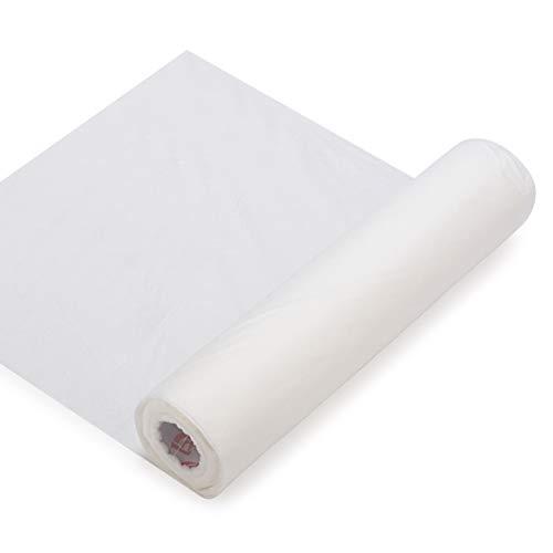 Simthread Wasserlöslicher Wash Away Stickvlies Stabilisator für Stickerei and Free Standing Lace FSL, 30 cm x 10 Yds/Rolle, Leichtem Gewicht 40gsm