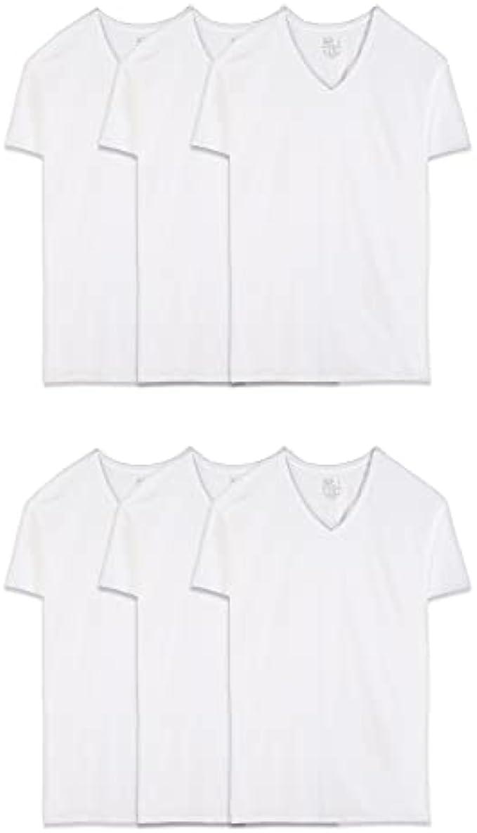 סט 6 חולצות וי מבית Friut of the Loom